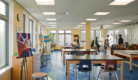 Classroom @ Sturgis Charter Public School designed by Studio G Architects
