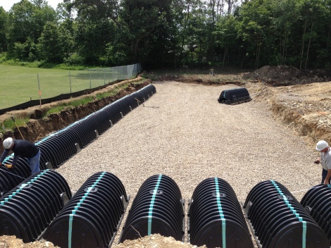 Leaching bed installation