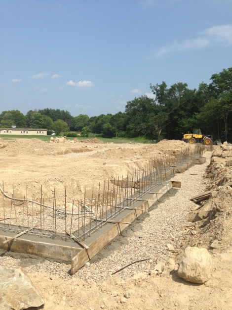 Foundation footing pour