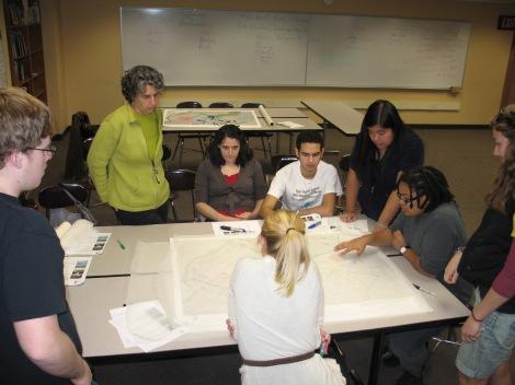 Studio G leading design charrettes with BLS students