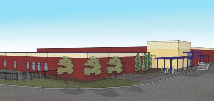 HCCS exterior rendering (Studio G Architects)