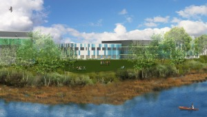 MATCH project rendering, view from river (Studio G Architects)