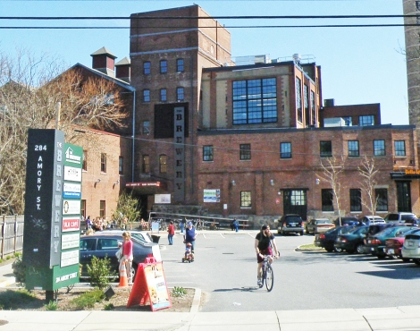 The Brewery in Jamaica Plain - home to Studio G Architects and several other great local businesses