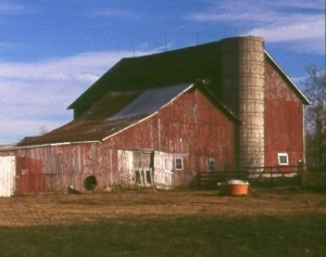 Before: an old barn in Ohio