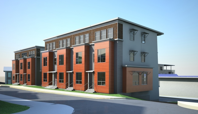 Energy positive (E+) rowhouse design @ Parker St