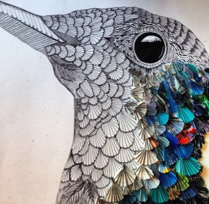 Mixed-media art by Jessica Wilson