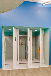Gender neutral showers -- Photo by Greg Premru