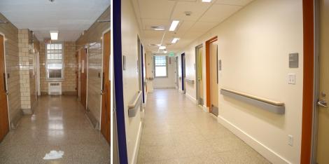 bedroom corridor before after