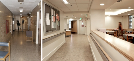 main corridor before after