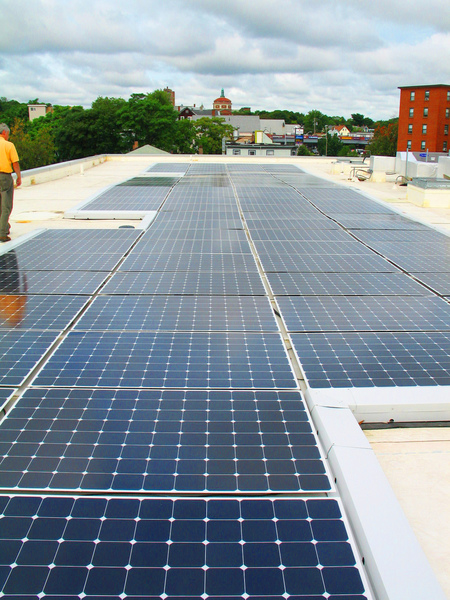 Solar Panels on our multifamily housing project at 270 Centre Street.